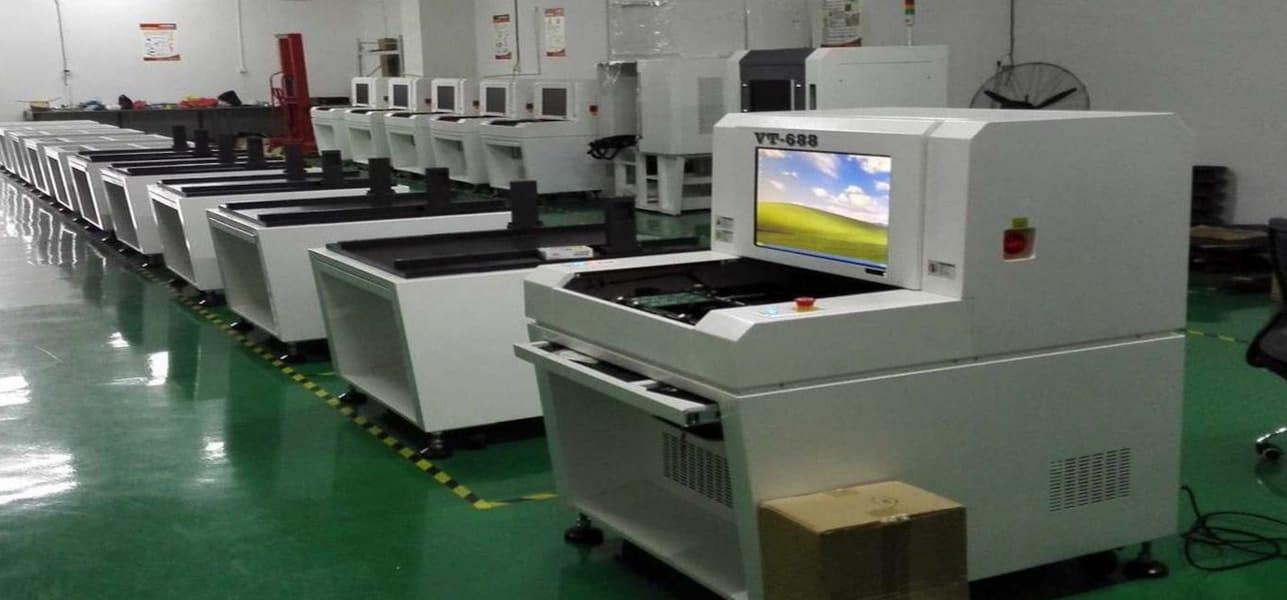 AOI设备生产现场